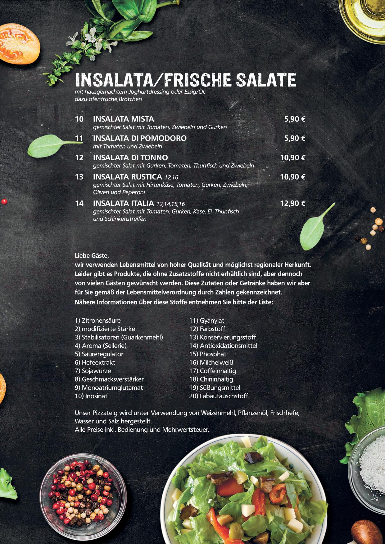 Insalata / frische Salate